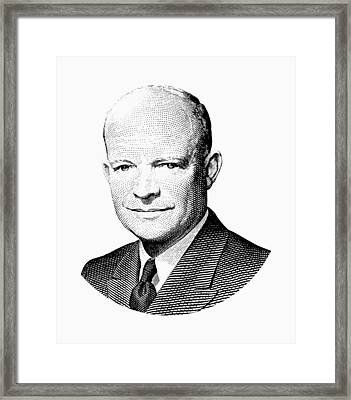 President Dwight Eisenhower Graphic Framed Print by War Is Hell Store