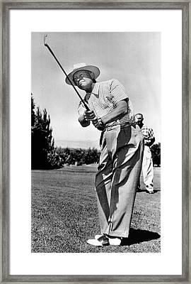 President Eisenhower Golfing Framed Print