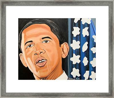 President Elect Obama Framed Print by Patrick Hunt