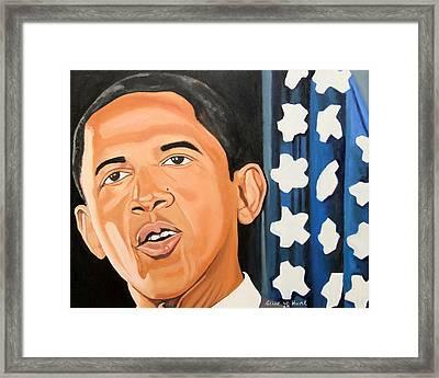 President Elect Obama Framed Print by Patrick Hunt