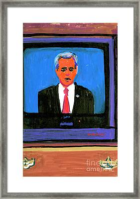 President George Bush Debate 2004 Framed Print