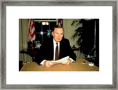 President George Bush Framed Print