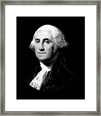 President George Washington Graphic  Framed Print