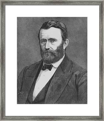 President Grant Framed Print by War Is Hell Store