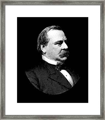 President Grover Cleveland Graphic Framed Print by War Is Hell Store