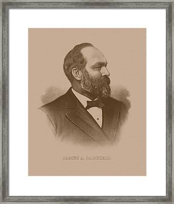President James Garfield Framed Print by War Is Hell Store