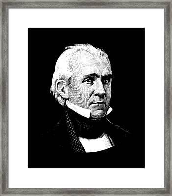 President James K. Polk Graphic Framed Print