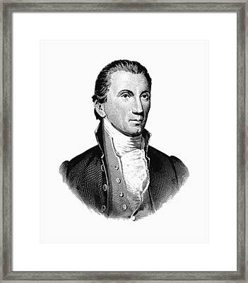 President James Monroe Graphic Framed Print