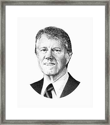 President Jimmy Carter Graphic Framed Print by War Is Hell Store