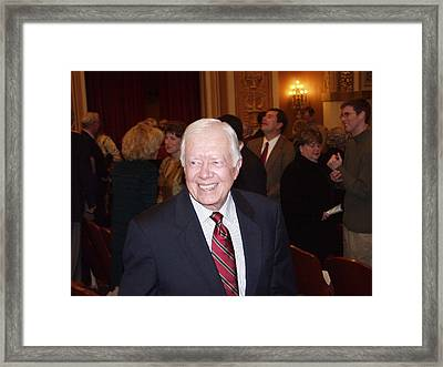 President Jimmy Carter - Nobel Peace Prize Celebration Framed Print by Jerry Battle