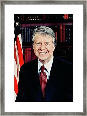 President Jimmy Carter Framed Print by Official White House Photographer