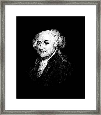 President John Adams Graphic Framed Print by War Is Hell Store