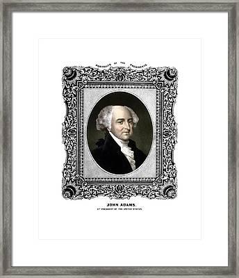 President John Adams Portrait  Framed Print