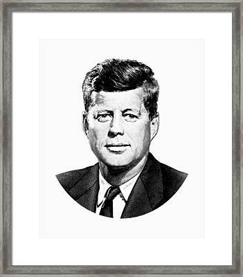 President John F. Kennedy Graphic Framed Print