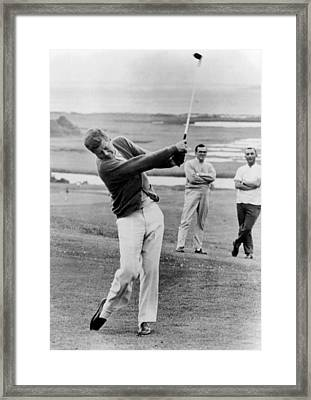 President John Kennedy Playing Golf Framed Print