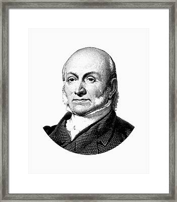 President John Quincy Adams Graphic  Framed Print