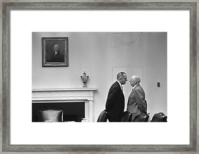 President Johnson Invading The Space Framed Print