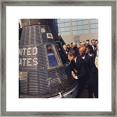 President Kennedy Inspects Interior Framed Print by Everett