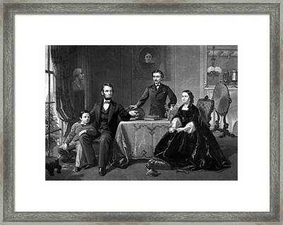 President Lincoln And His Family  Framed Print by War Is Hell Store