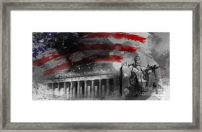 Framed Print featuring the painting President Lincoln  by Gull G