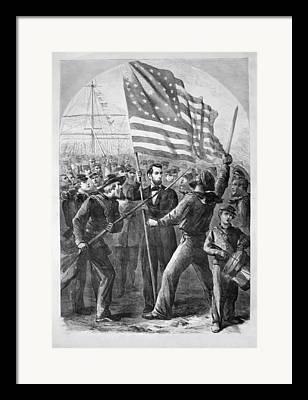 Abraham Lincoln Digital Art Framed Prints