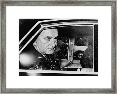 President Lyndon Johnson, Less Than 24 Framed Print by Everett