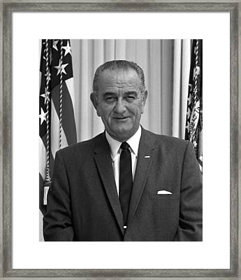 President Lyndon Johnson Framed Print by War Is Hell Store