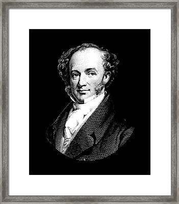 President Martin Van Buren Graphic - Black And White Framed Print