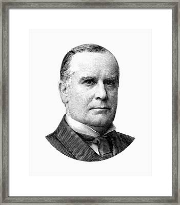 President Mckinley Graphic - Black And White Framed Print by War Is Hell Store