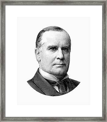President Mckinley Graphic - Black And White Framed Print