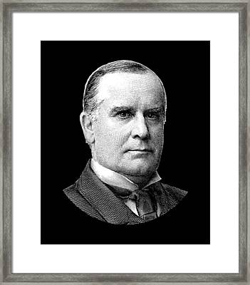 President Mckinley Graphic Framed Print by War Is Hell Store