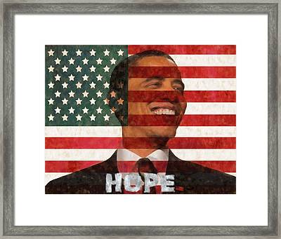 President Obama Hope Framed Print