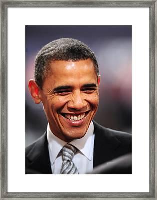 President Obama Iv Framed Print by Rafa Rivas