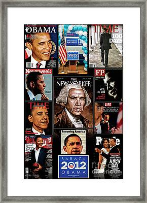 President Obama Tribute Collage Framed Print by Julian Starks