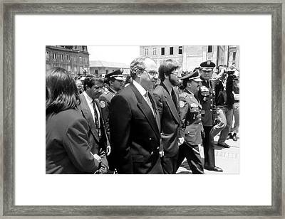 President Of Colombia 1994-98 Framed Print by Daniel Gomez