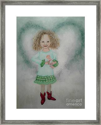 President Of The Sugar And Spice Club Framed Print by Wendy Wunstell