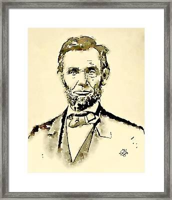 President Of The United States Of America Abraham Lincoln Framed Print