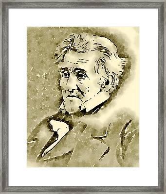 President Of The United States Of America Andrew Jackson Framed Print