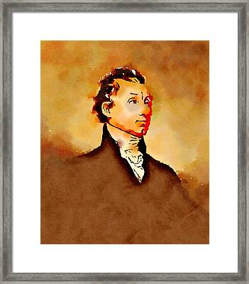 President Of The United States Of America James Monroe Framed Print