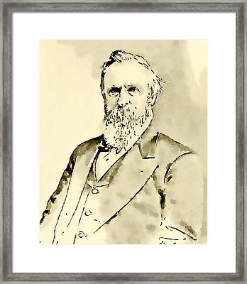 President Of The United States Of America Rutherford Hayes Framed Print