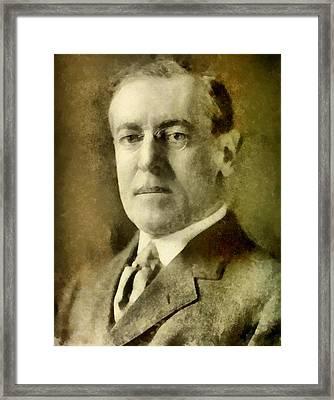 President Of The United States Of America Woodrow Wilson Framed Print