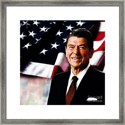 President Ronald Reagan Framed Print by Gull G