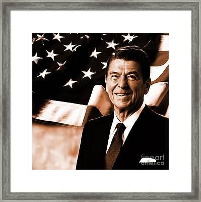 President Ronald Reagan-a Framed Print by Gull G