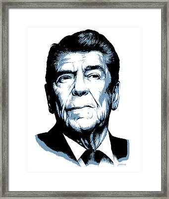 President Reagan Framed Print by Greg Joens