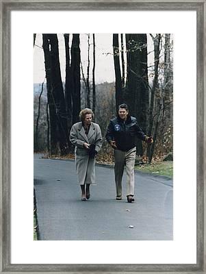 President Reagan Walking Framed Print by Everett