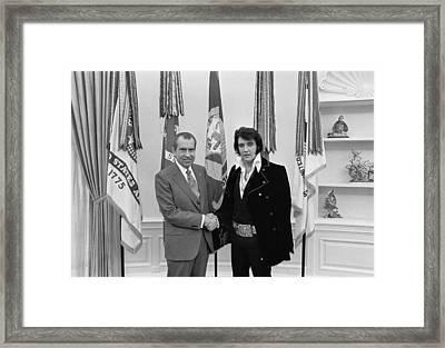 President Richard Nixon Meeting Elvis Framed Print