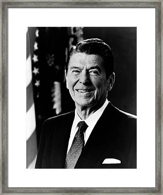 Framed Print featuring the photograph President Ronald Reagan by International  Images