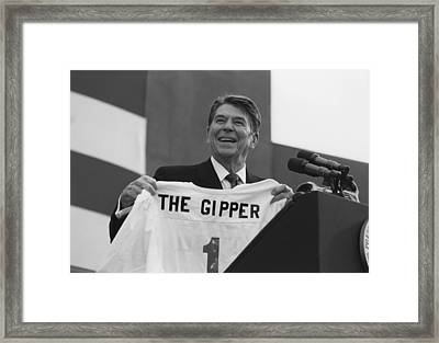 President Ronald Reagan - The Gipper Framed Print by War Is Hell Store