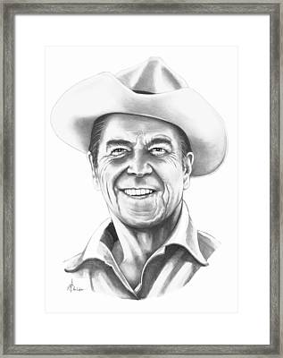 President Ronald Regan Framed Print by Murphy Elliott
