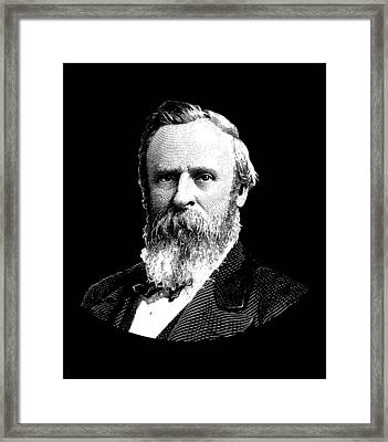 President Rutherford B. Hayes Graphic Framed Print